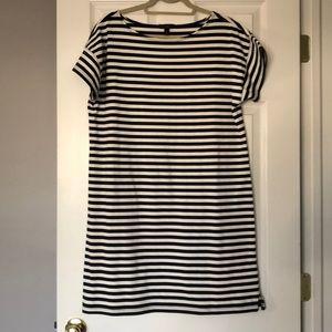 J. Crew striped t-shirt dress